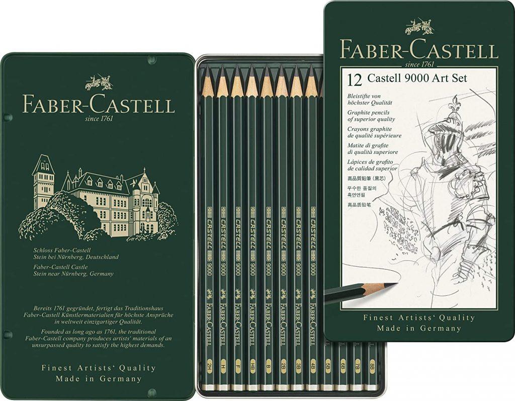 Lápices Faber Castell 9000 - Faber Castell 9000 - Set de 12 lápices para dibujo artístico