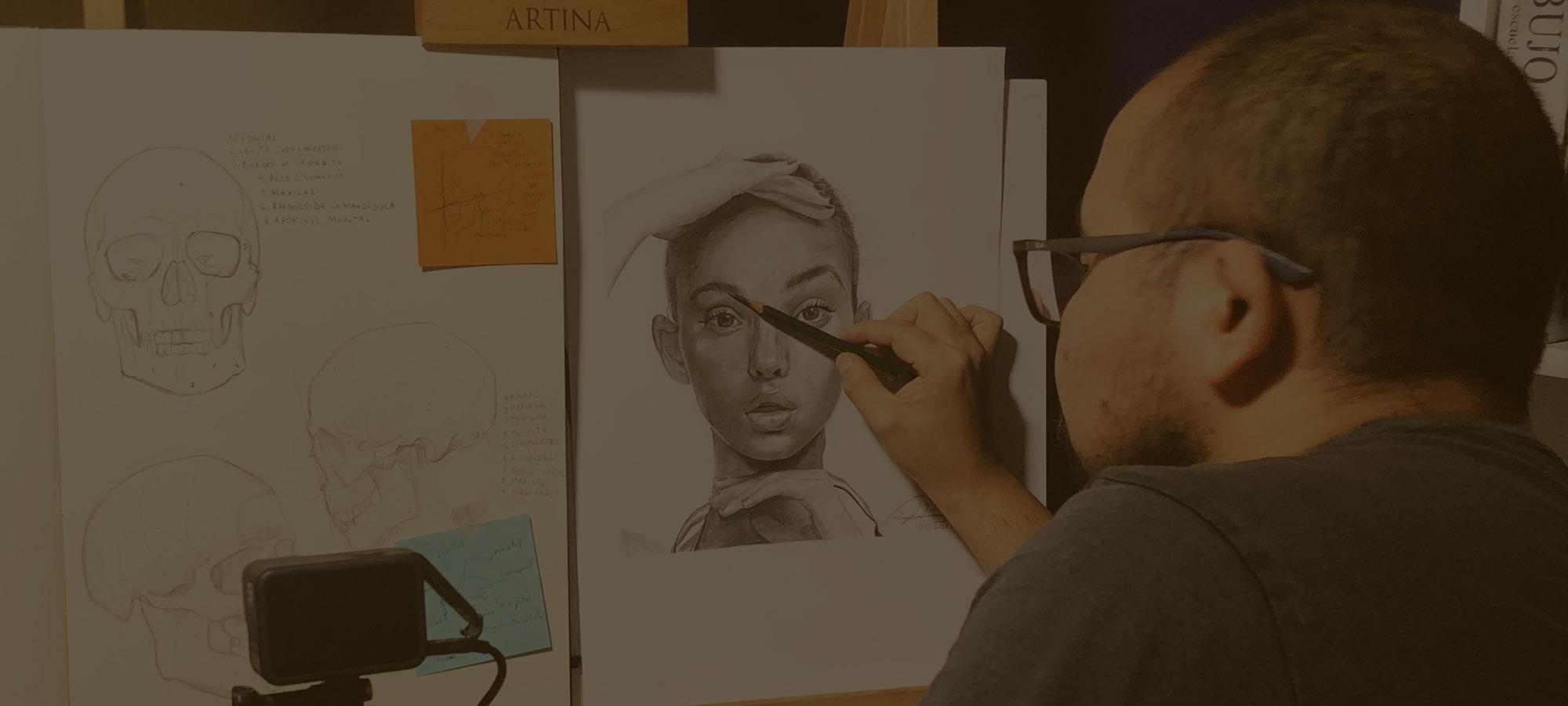 Dibujo de Retrato: Curso de Dibujo completo Paso a Paso